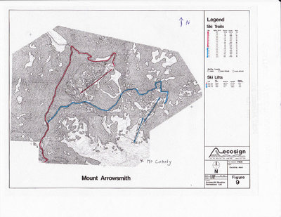 Ecosign Existing Area Plan showing the upper and lower areas