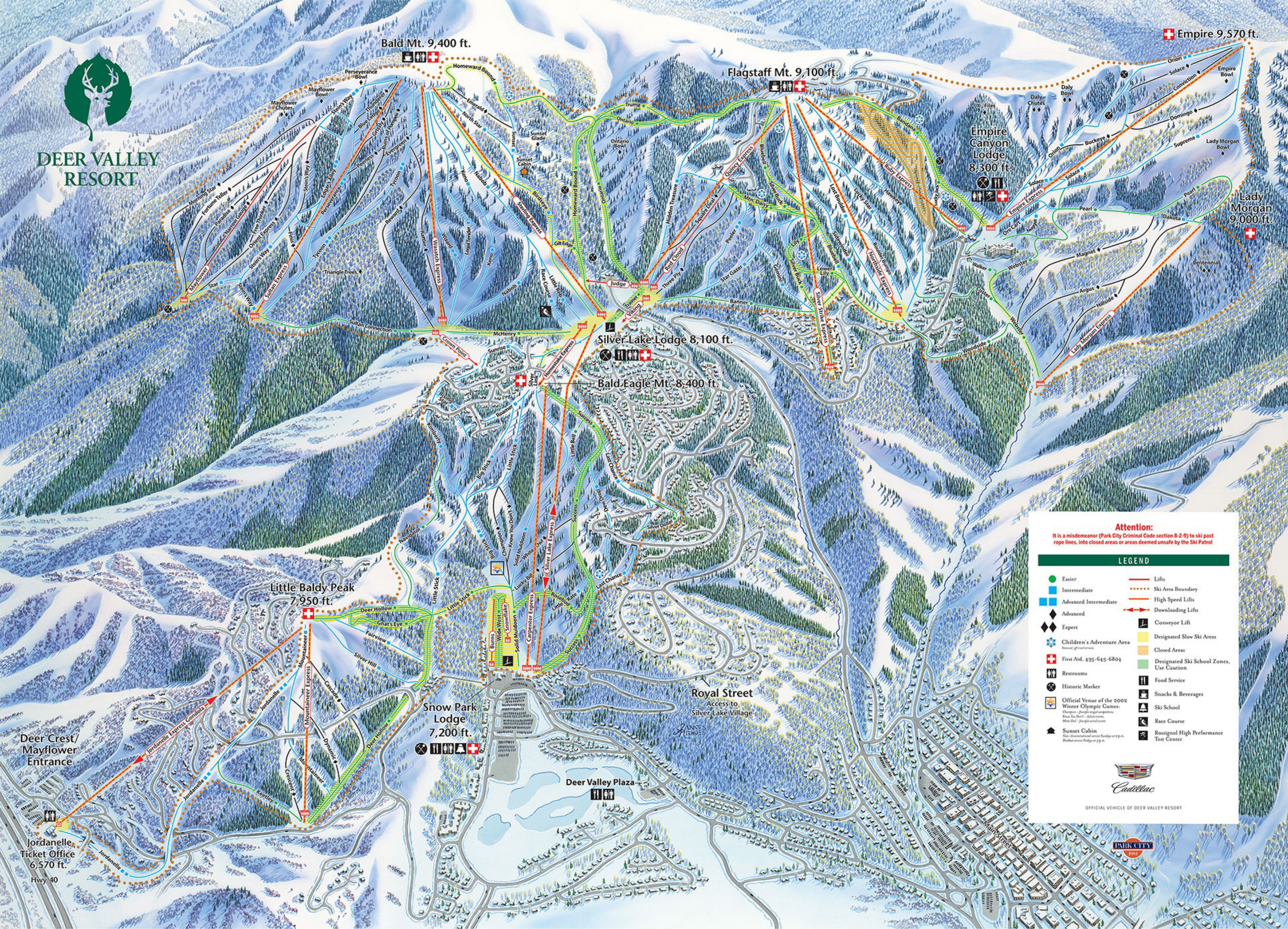 Deer Valley Map Deer Valley Resort   SkiMap.org