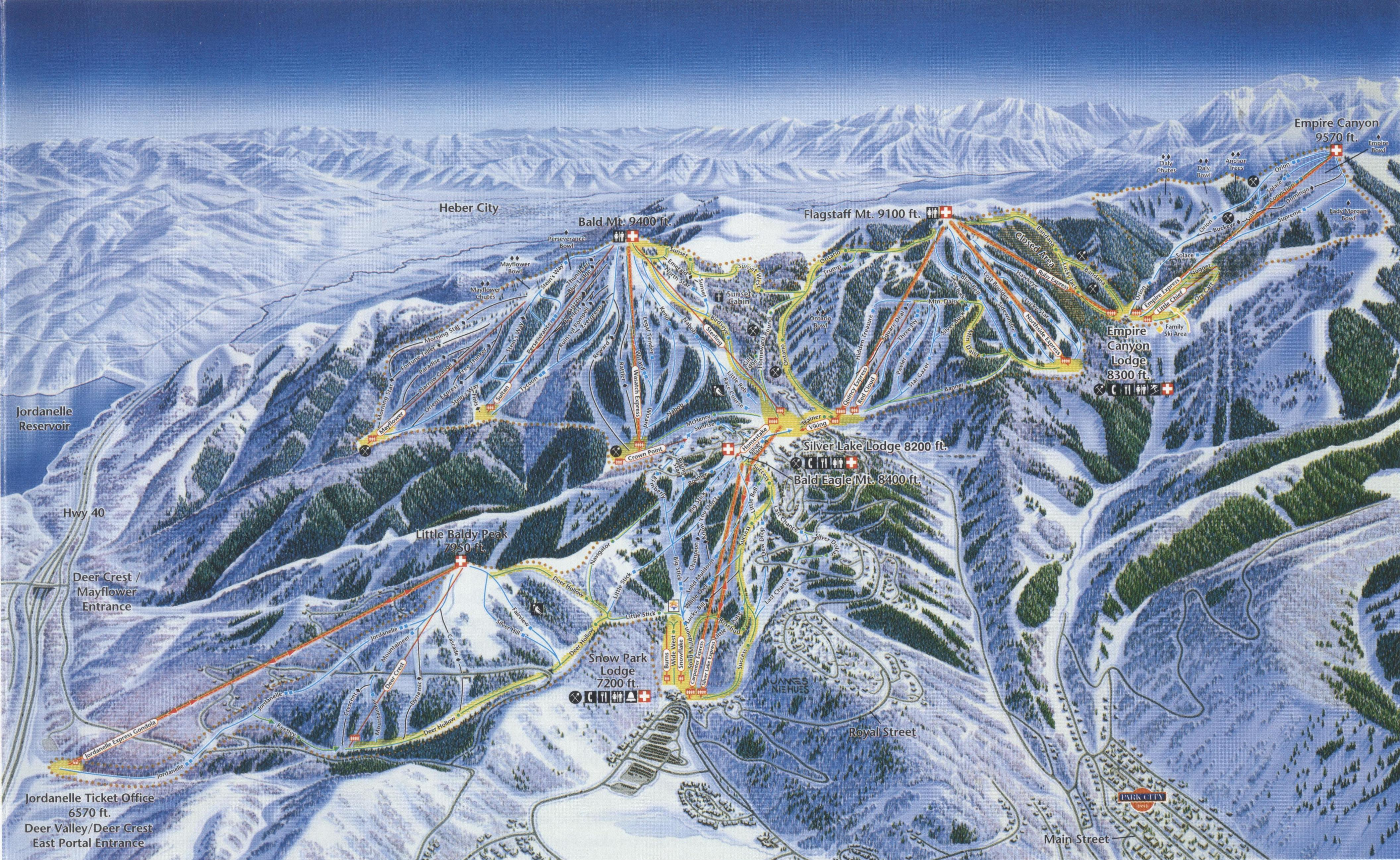 Deer Valley Resort SkiMap