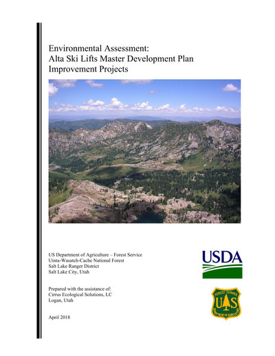 Alta Ski Lifts Master Development Plan