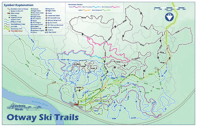 Otway Nordic Centre Master Trail Map (Cross Country Ski and Snowshoe Trails)