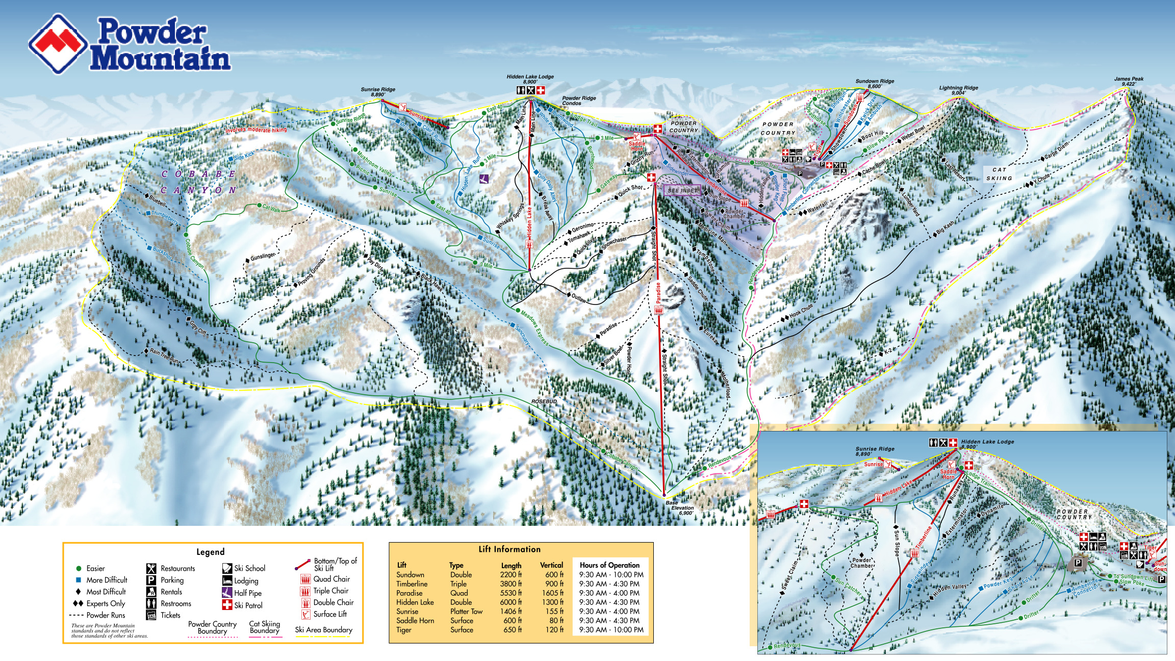 powder mountain - skimap