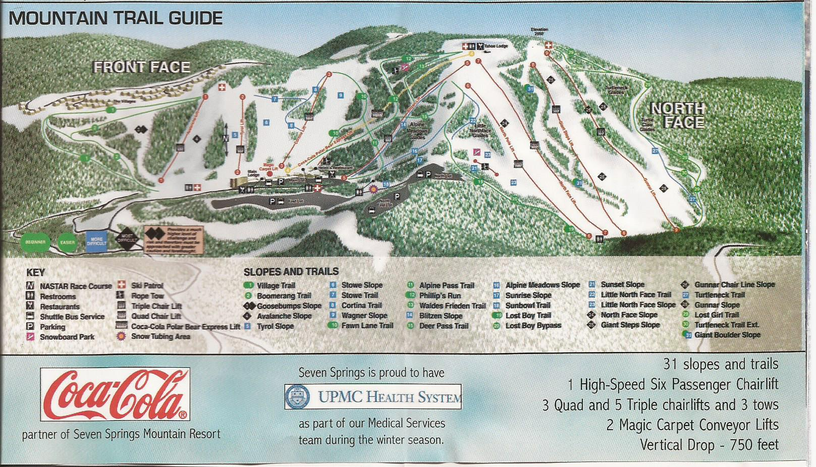 seven springs mountain resort - skimap