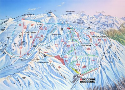 mountain map for treble cone
