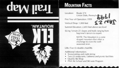 Mountain Facts.  3 new trails for '93/'94