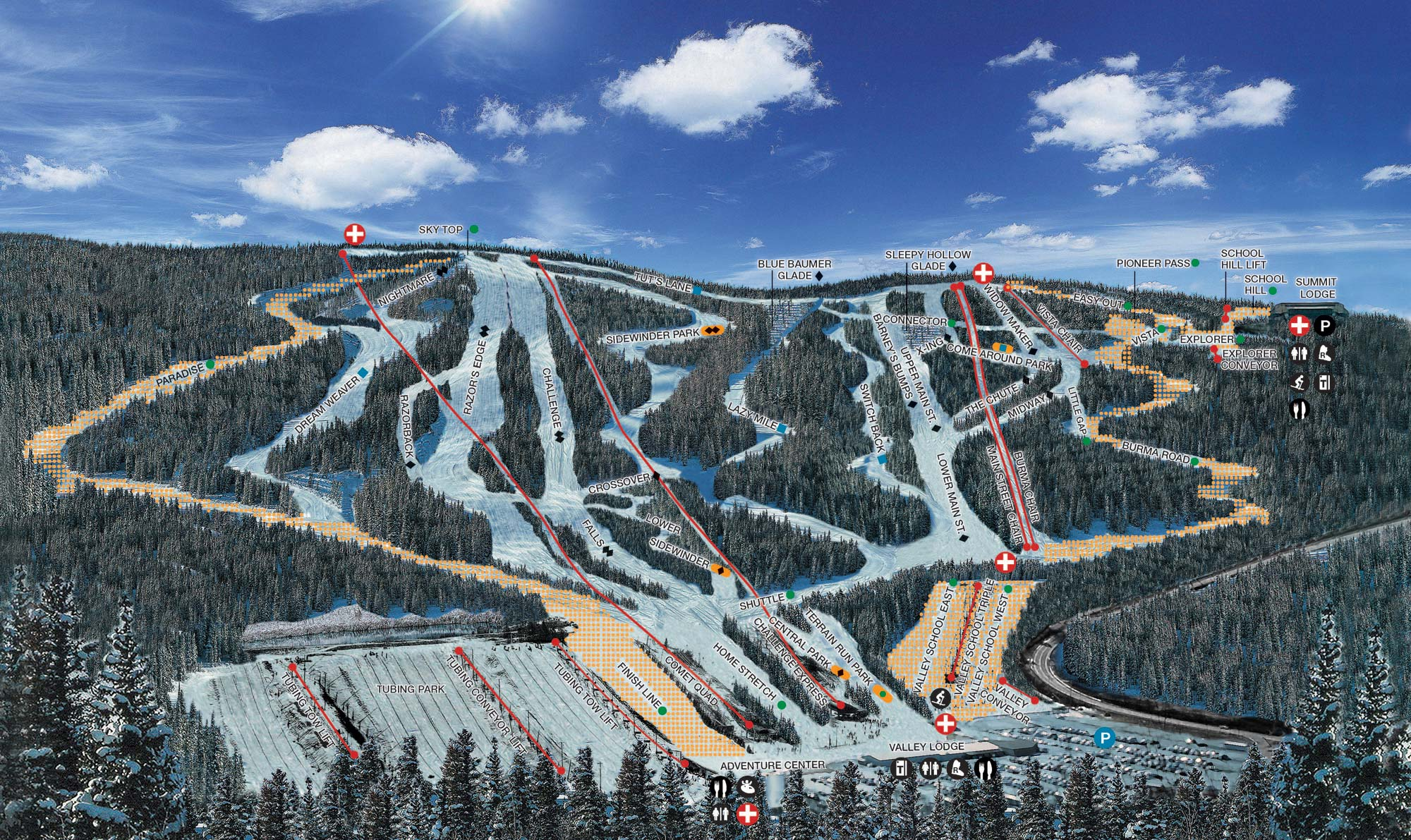 blue mountain ski area - skimap