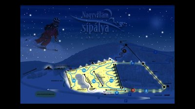 Night Ski Map