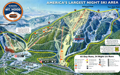 Mt. Hood Skibowl map 2012-2013 season