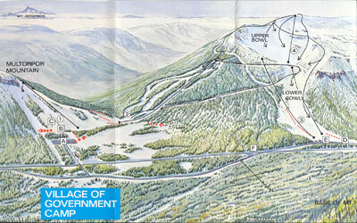 Old name was Mt. Hood Ski Bowl & Multorpor. Artist name on map is D. Molenaar '68