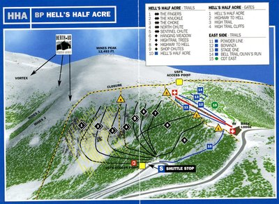 Hell's Half Acre Piste Map