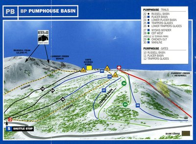 Pumphouse Basin Piste Map