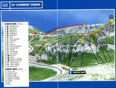 Current Creek Piste Map