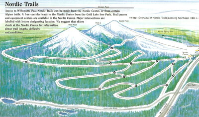 Willamette Pass Nordic Center Map
