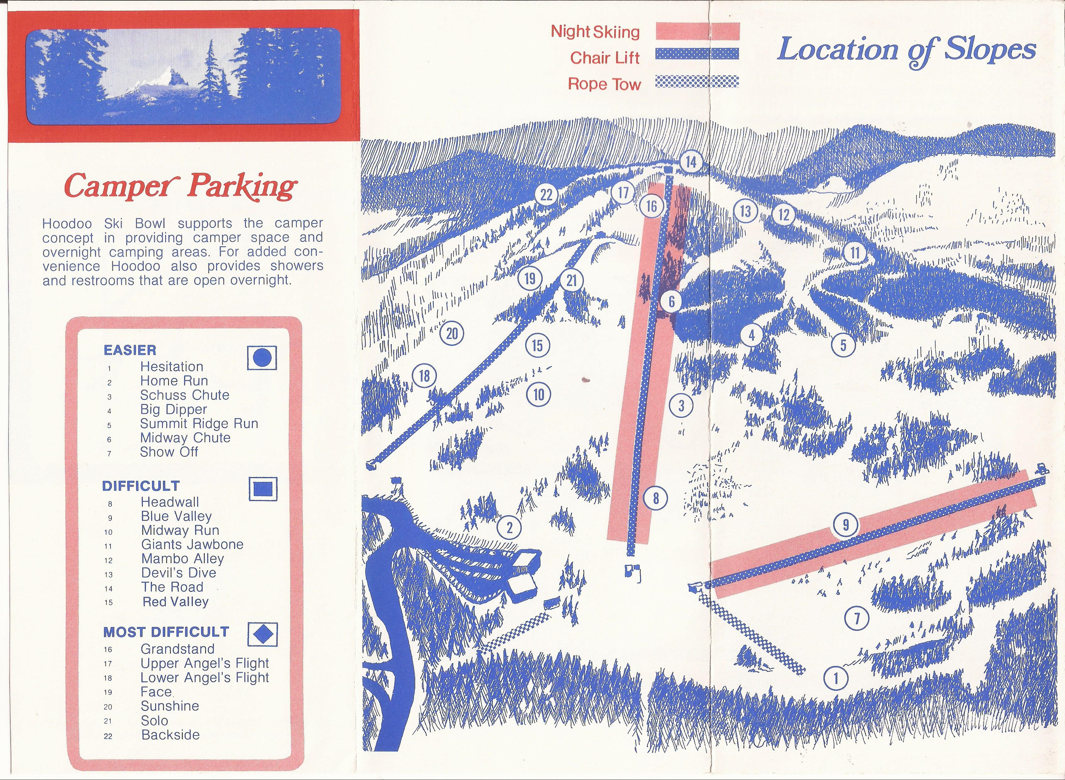 100 Hoodoo Ski Area Trail Map Deschutes National Forest