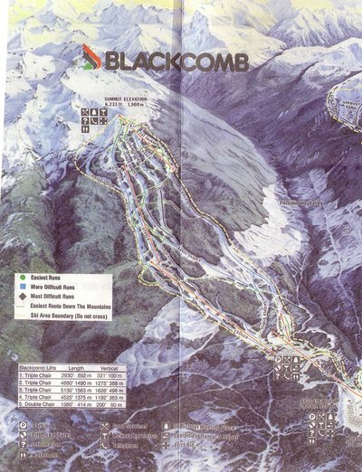 1980 Blackcomb Map