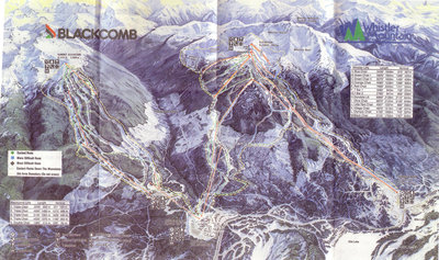 1980 Whistler-Blackcomb Map