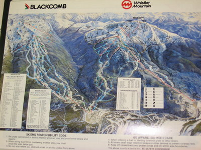 1986-87 Whistler-Blackcomb Map