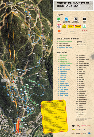 2007 Whistler Bike Park Map