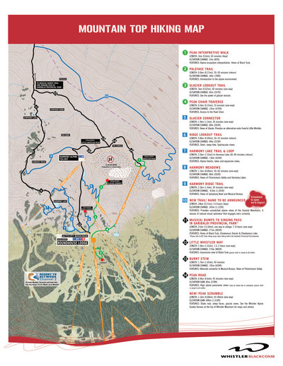 2006 Whistler Hiking Map