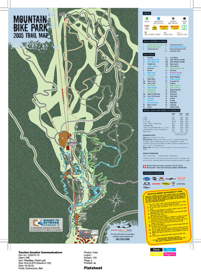 2005 Whistler Bike Park Map