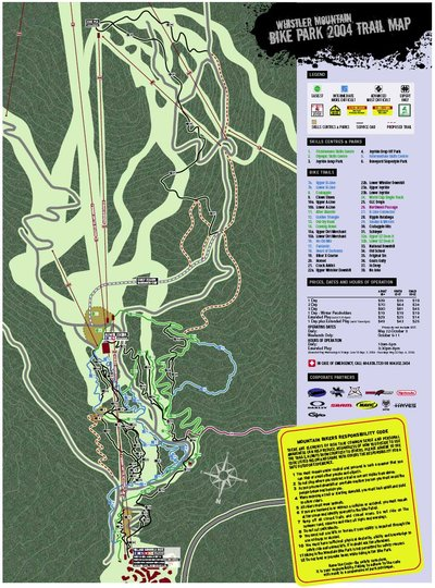 2004 Whistler Bike Park Map