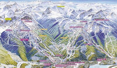 1990s Whistler Blackcomb Map
