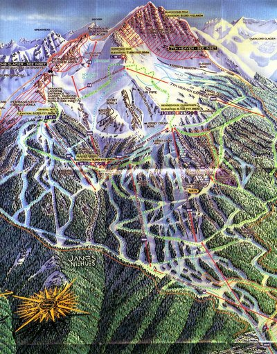 1997-98 Blackcomb Map