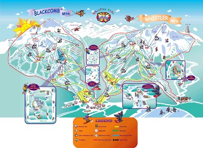 2002-04 Whistler Blackcomb Kids Map