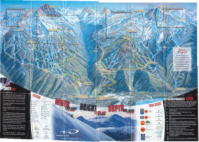 2000-01 Whistler Blackcomb Map