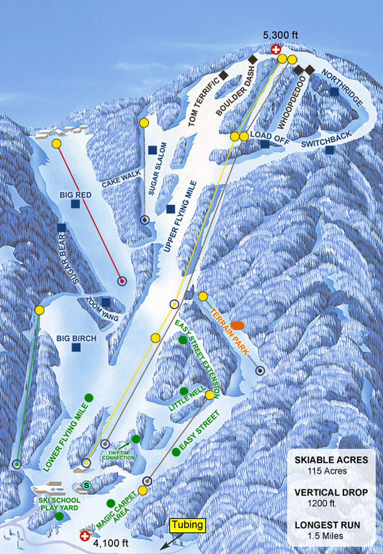 sugar mountain resort - skimap