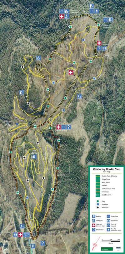 Kimberley Nordic Centre Trail Map
