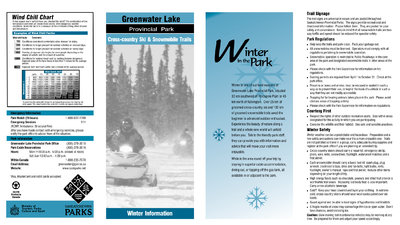 Greenwater Lake Provincial Park Ski Trail Map