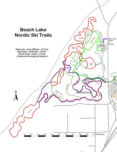 Beach Lake Nordic Trail Map