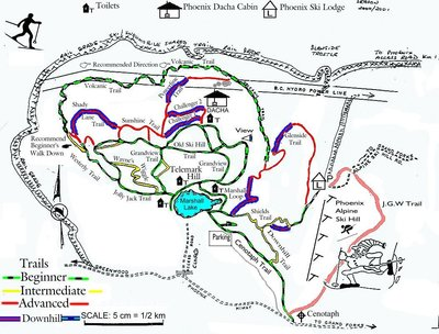 Pheonix Cross Country Ski Trails Trail Map