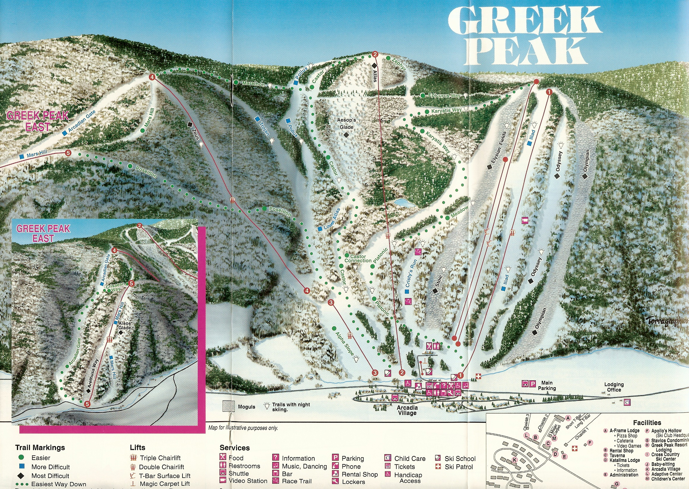 greek peak ski resort - skimap