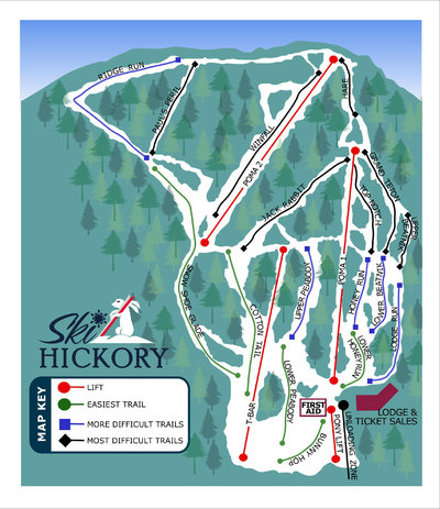 Hickory Trail Map (2010-present)