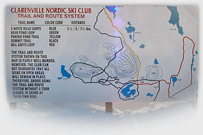 White Hills/Clarenville Nordic Ski Club Cross Country Ski Trails Trail Map