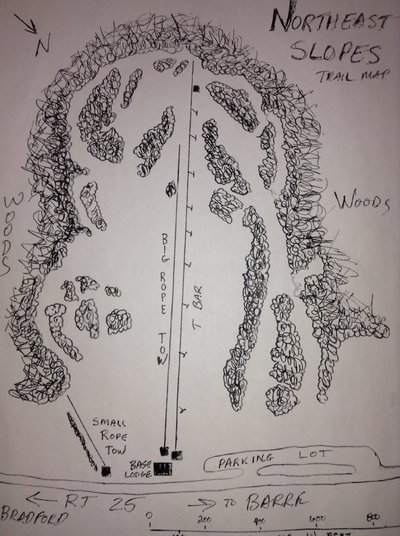 Map of Northeast Slopes, East Corinth, Vermont