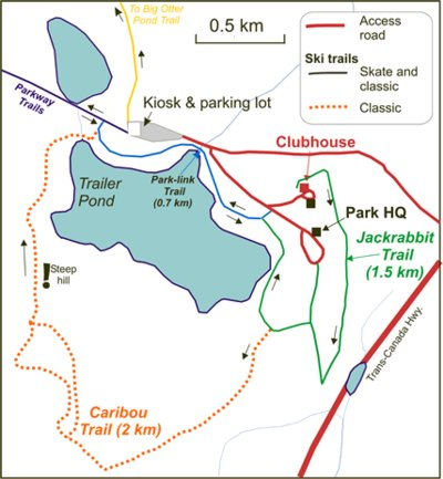 Butterpot Trails- Clubhouse Inset Trail Map