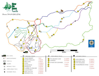 Blow Me Down Trails Trail Map