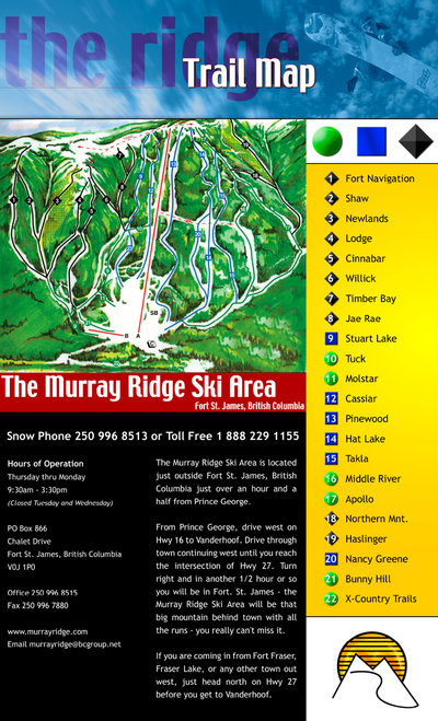2004-07 Murray Ridge Downhill Map
