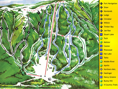 Old Murray Ridge Downhill Map