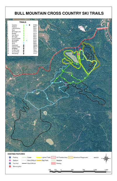 Bull Mountain Ski Area Trail Map