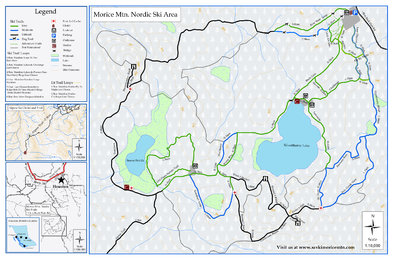 Morice Mountain Cross Country Ski Trails Trail Map