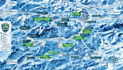 """""""Schneewinkel"""" (Snowy corner) brand is no longer used. Fieberbrunn left the cooperstion because it is now connected with Saalbach skiing area, the remaining villages are now marketed under the brand """"3LänderFreizeit-Arena"""" (Leisure arena of three countries)"""