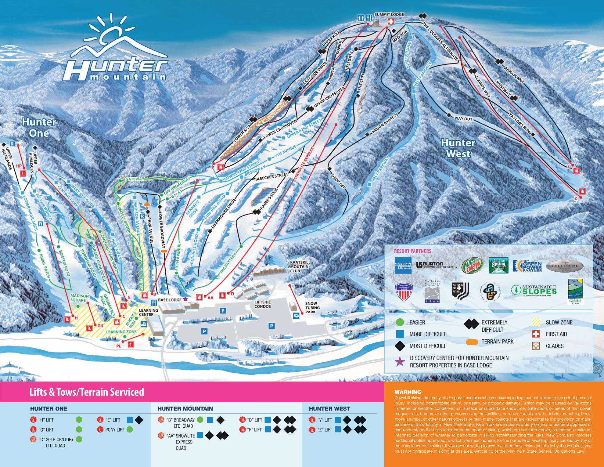hunter mountain - skimap
