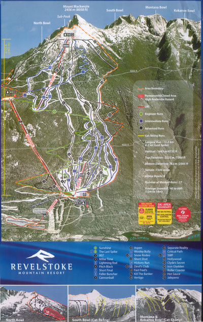 2007 Revelstoke Mtn Resort Map
