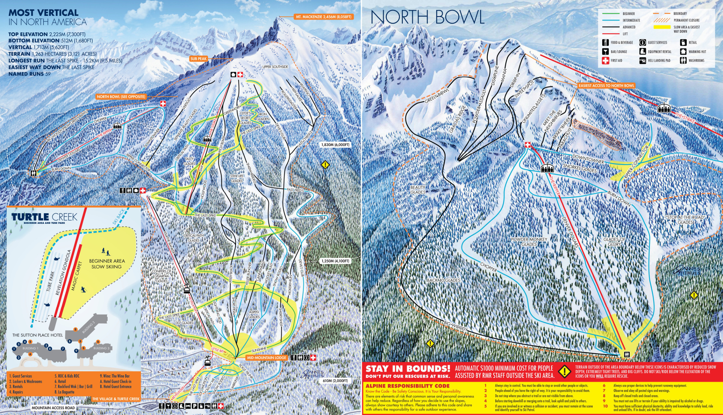 revelstoke mountain resort (powder springs) - skimap