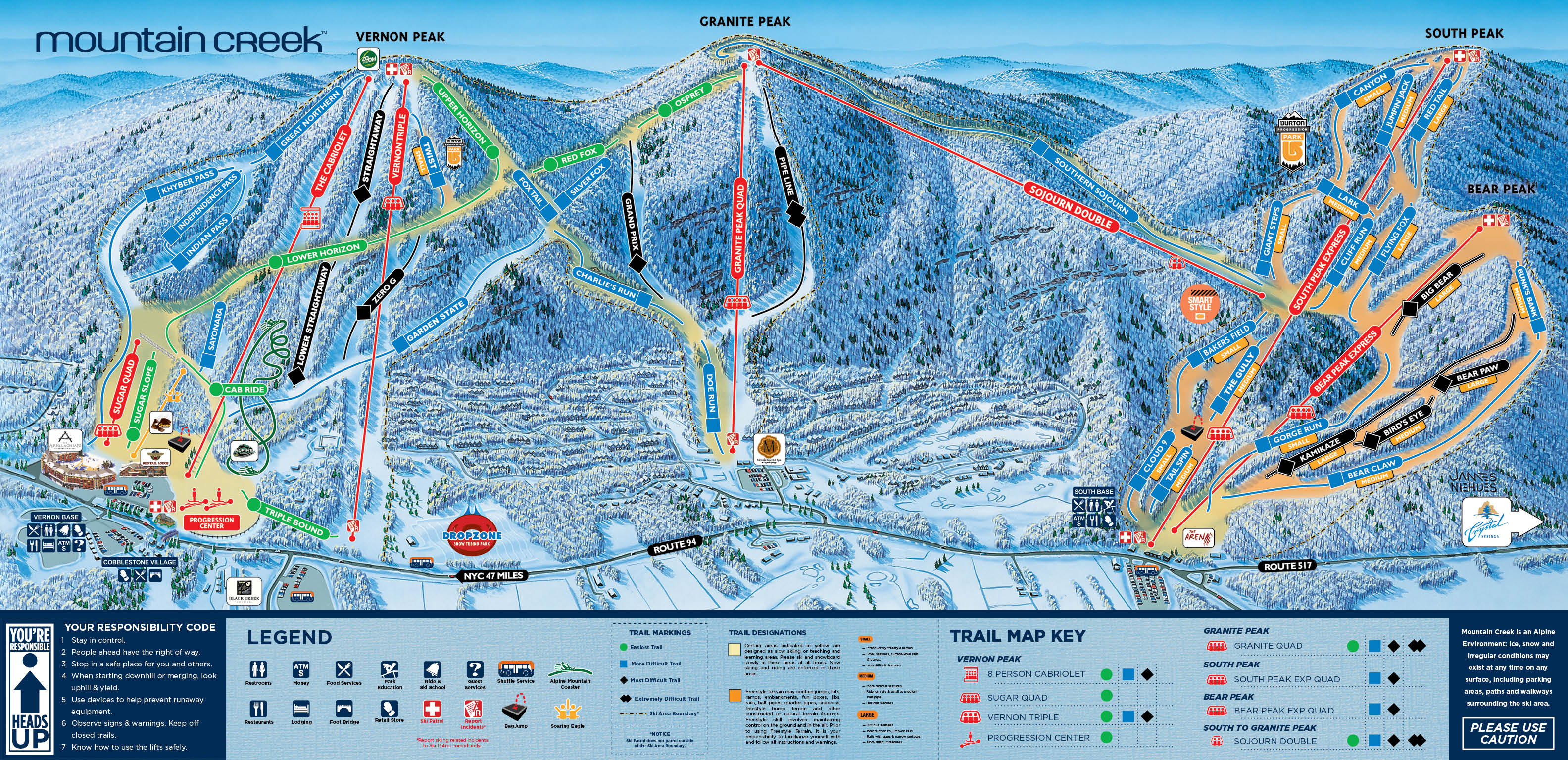 mountain creek - skimap