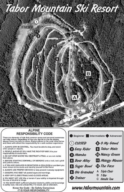 2005-08 Tabor Downhill Map